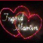 Feuerwerke mit Herzen und Namen